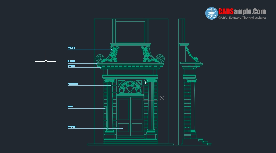 Wall Art Autocad Block : Stonewall door cad block free dwg ? cadsample