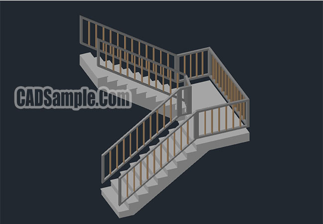 3D Ladder Type 3 Cad Dwg Drawing