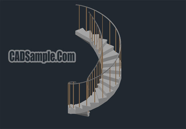 3d Ladder Type Cad Dwg Drawing Cadsample