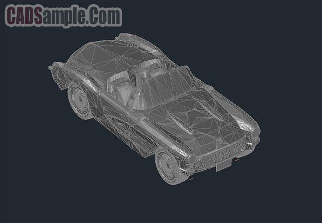 automobile-3d-1957-corvette-convertible-free-dwg