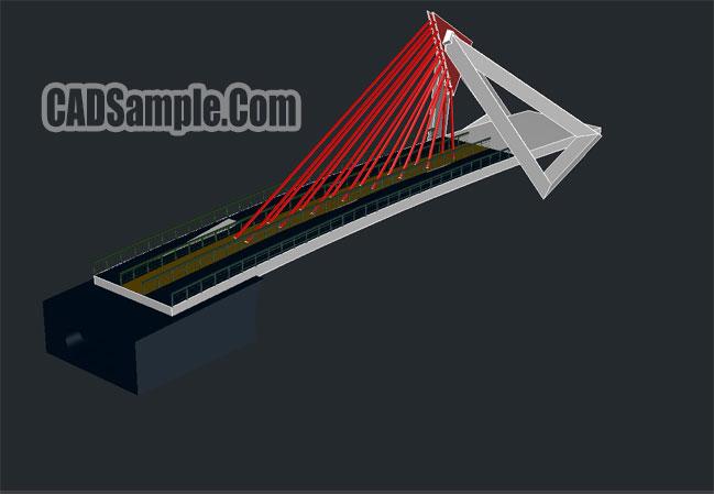 Bridge 3d Cad Dwg Drawings 187 Cadsample Com