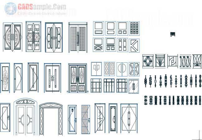 carved-doors-cad-block-set-free-dwg