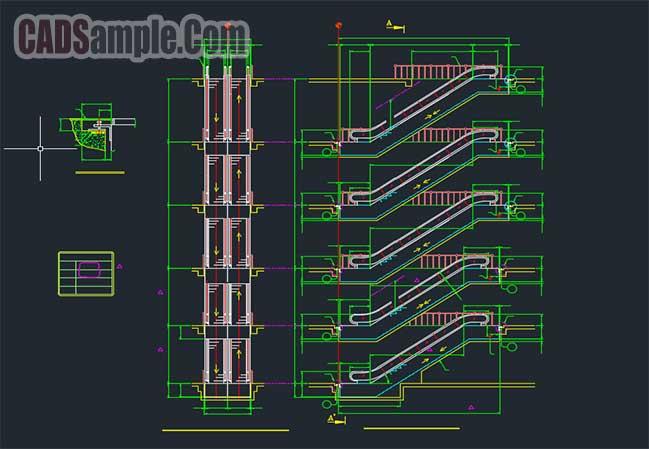 Escalator Details Cad Free Dwg 187 Cadsample Com