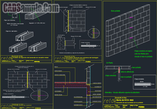 retak-intersections-walls-with-columns-free-cad-dwg