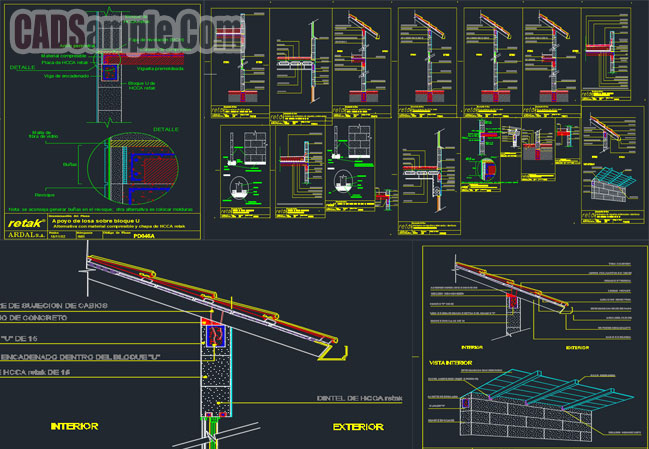 Support Slabs Roofs Free Cad Dwg 187 Cadsample Com