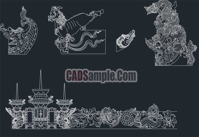 stone-building-cad-drawings-free-dwg