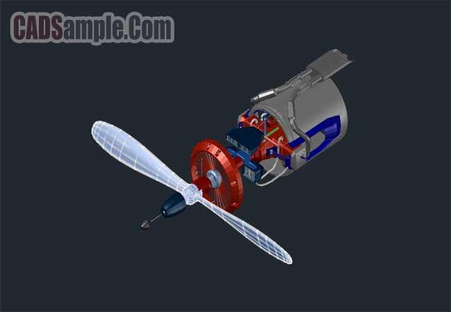 3d-aircraft-engine-free-dwg