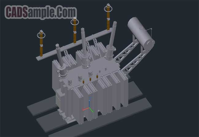 autocad_drawing-3d-power_transformer