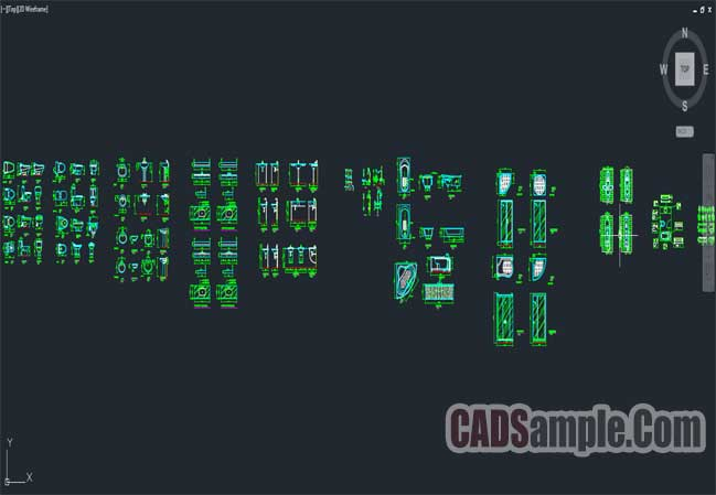 Bathroom And Shower CAD Block Dwg Set CADSampleCom - Bathroom cad blocks