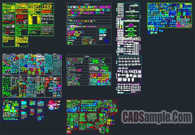 cad-variety-of-building-blocks-free-dwg
