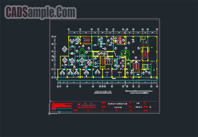 restaurant-cafe-decoration-tiles-free-dwg