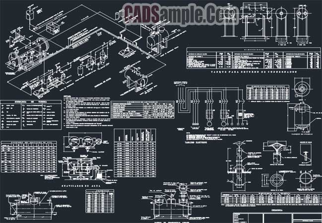 free dwg drawings steam generator electrical plans