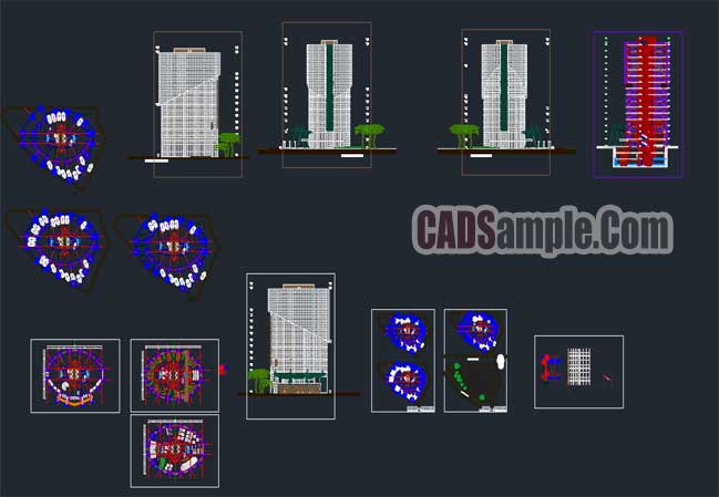 Free Dwg Plans Office Buildings in Autocad