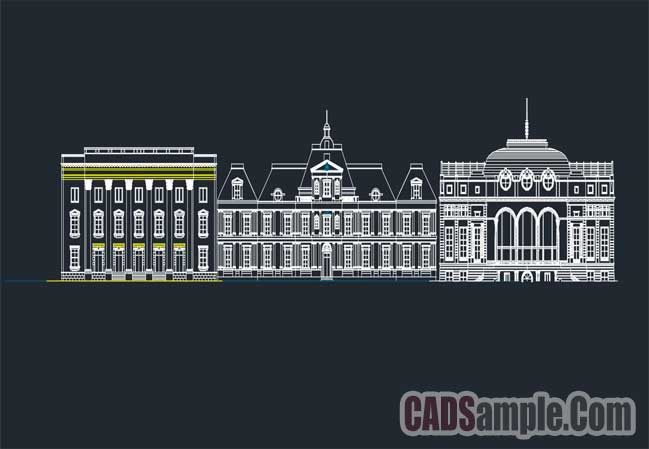 Majestic Building Cad Elevation Free Dwg