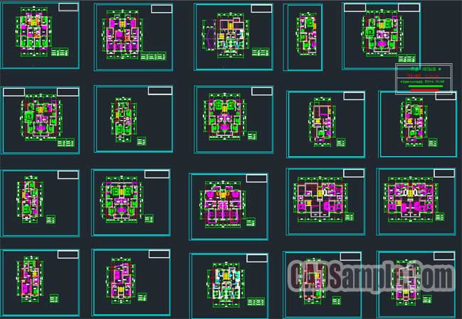 Free Dwg 20 kinds of drawings of residential units