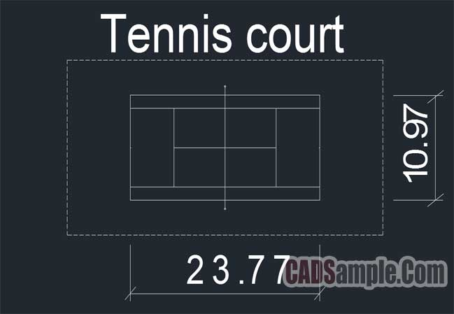 Free Dwg Tennis Court Autocad Blocks 187 Cadsample Com