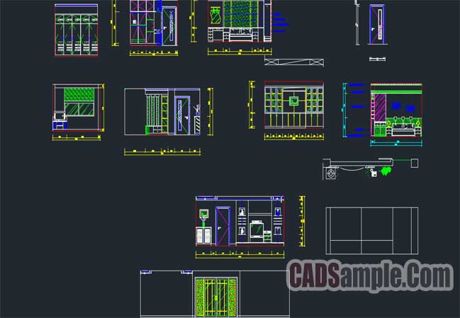 Free Dwg Home kitchen CAD Block Set