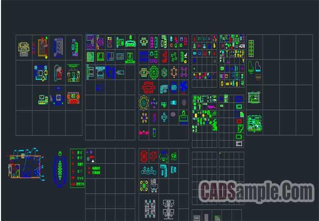 Free Dwg Interior Design CAD blocks » CADSample Com