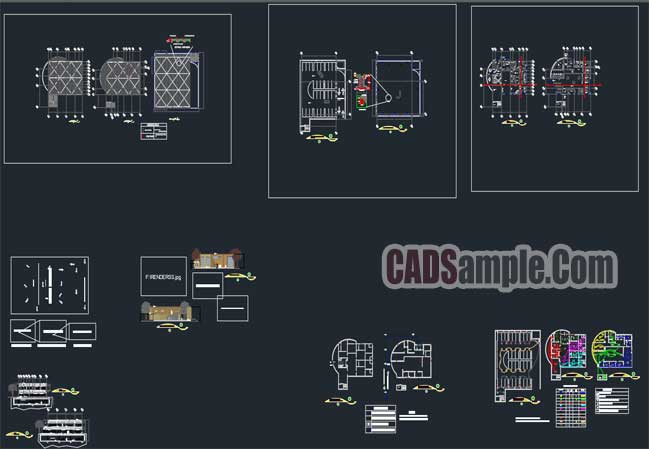 Bank-Architectural-and-Electrical-Lighting-Project-FREE-DWG