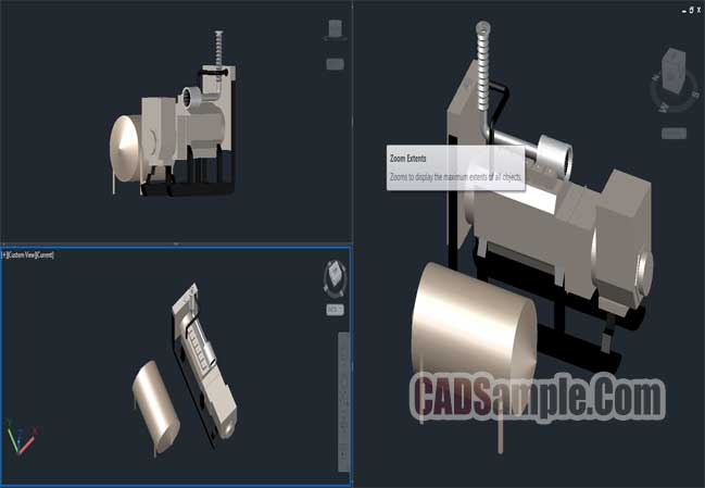 3D Electricity Generator Drawing Free Dwg