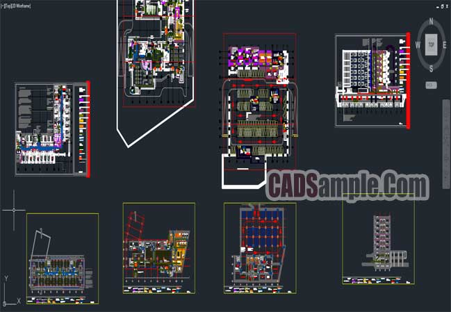 Fire Safety Autocad Project For Hotel And Auditorium