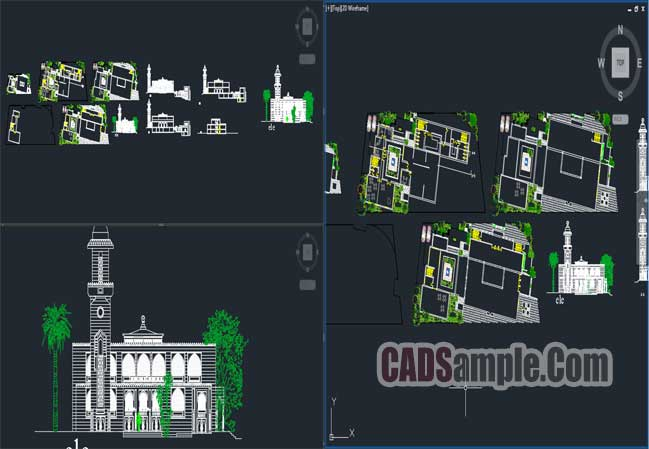 Islamic Center Project Free Dwg