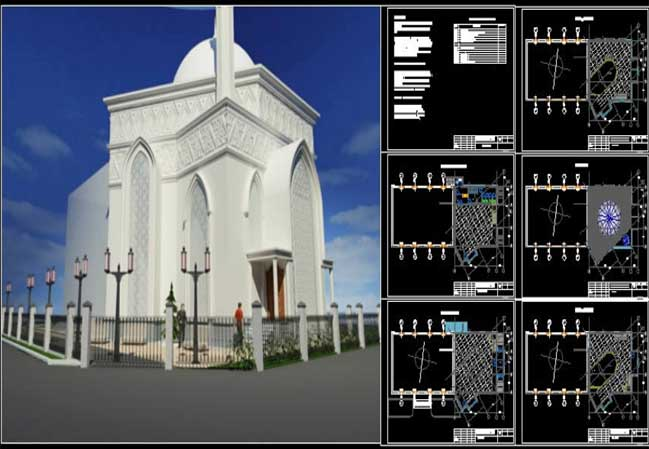 Mosque Project İn Astana Free Dwg