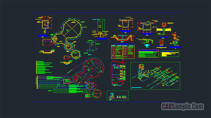 Swimming Pool Full Detail Autocad Project Cadsample Com