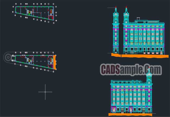Turri Building Detail Autocad Drawings-Chile