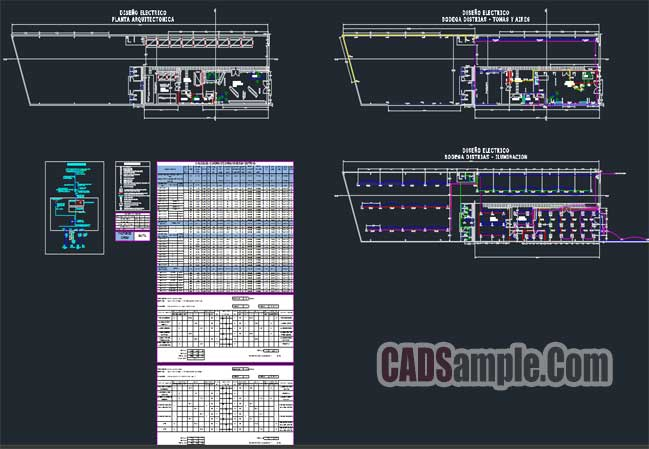 Warehouse Lighting Design Project Free Dwg