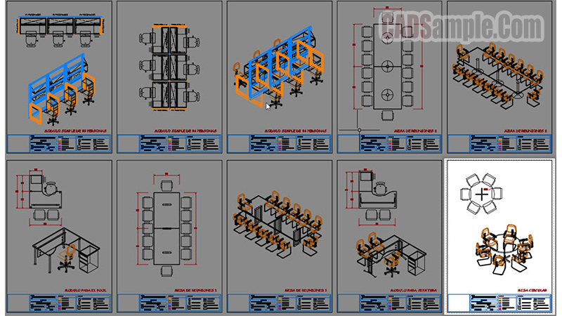3d furniture cad blocks free dwg cadsample com for Furniture drawing software free