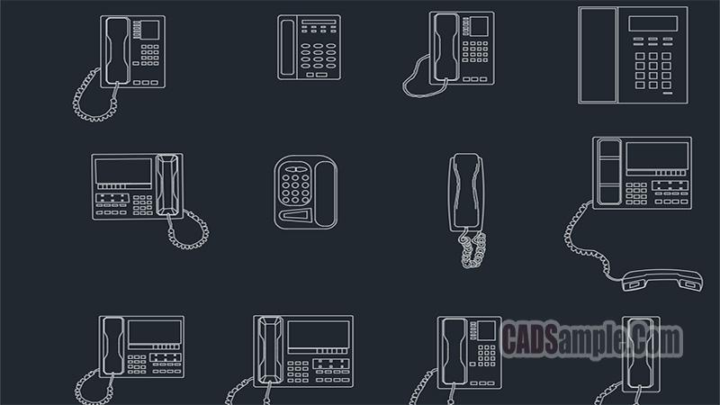 Phone Cads Blocks Free Dwg