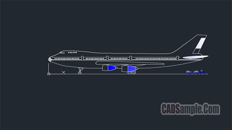 Boeing 747 Jumbo Jet Free Dwg