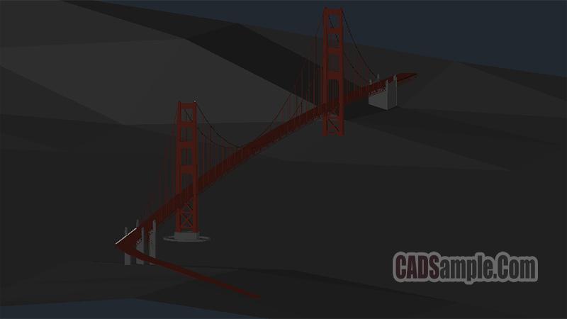 Golden Gate Bridge Free Dwg
