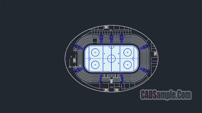 Hockey Arena Free Dwg