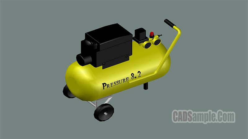 Pressure Compressor 3D Free Dwg