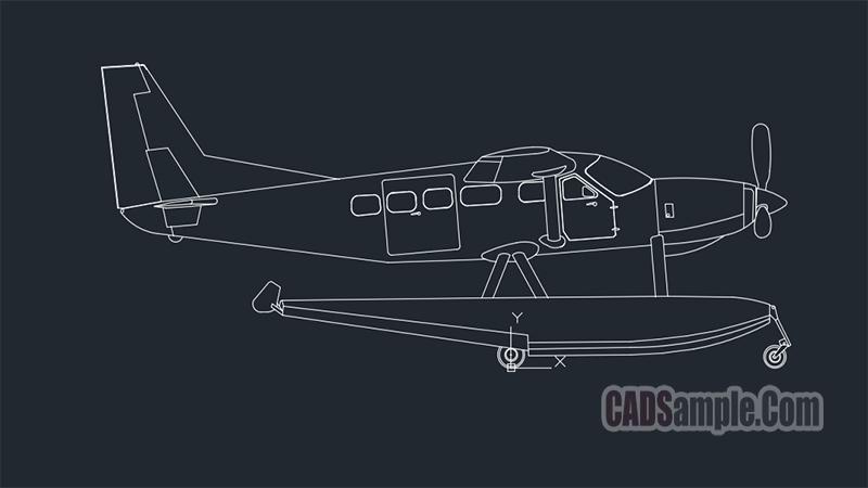 Seaplane Free Dwg