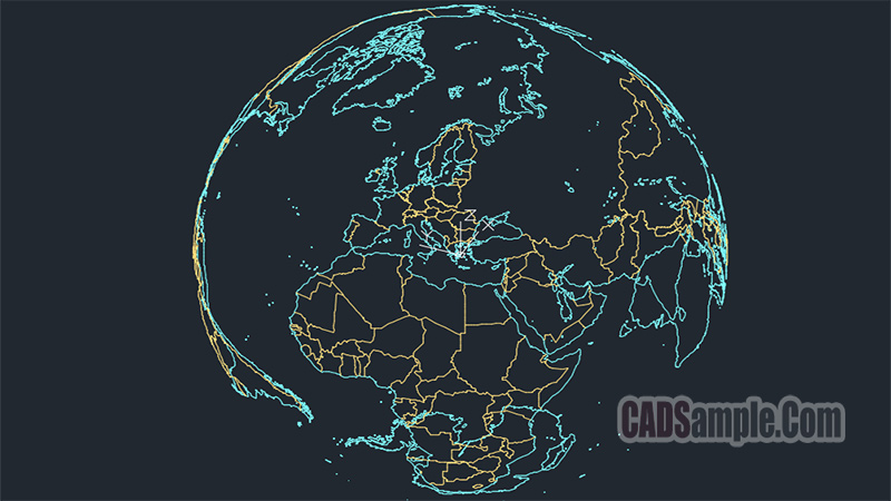Worldmap 3d map free dwg cadsample worldmap 3d map free dwg download file gumiabroncs Gallery