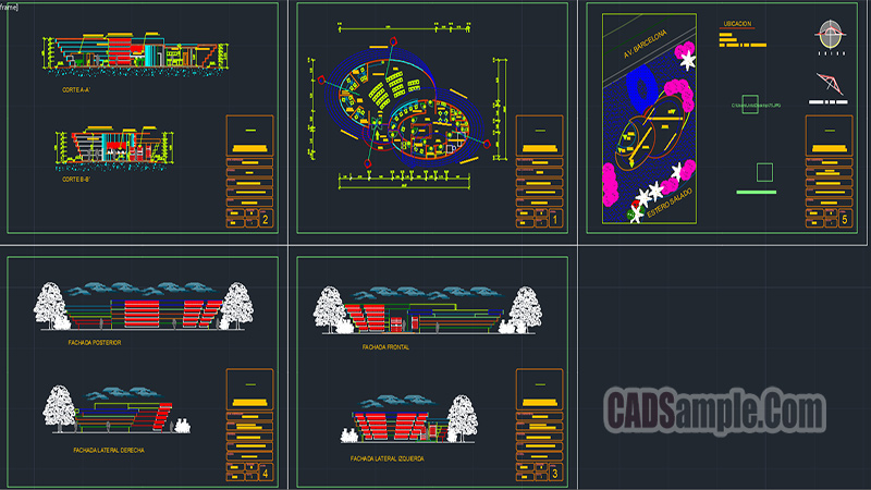 Bank Project Free Dwg