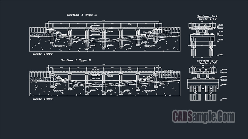 Bridge Technical Drawing Free Dwg