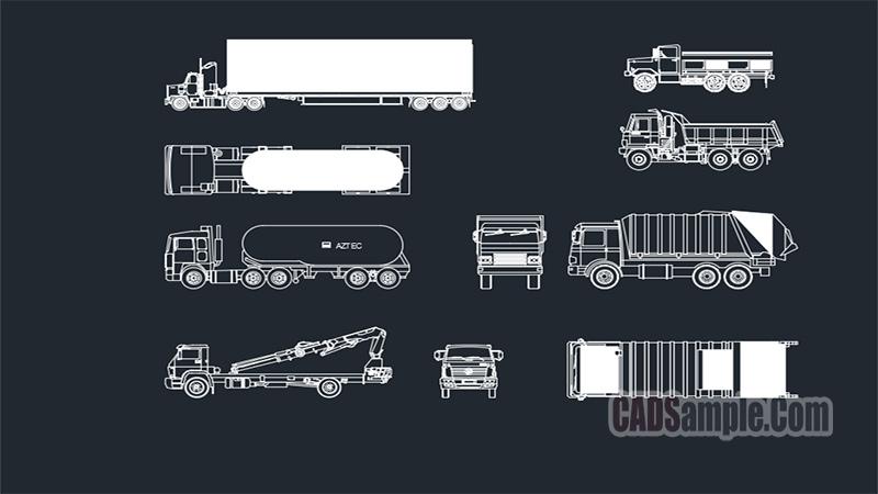 Trucks Cads Blocks Set Free Dwg