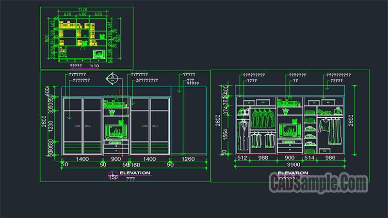 Wardrobe Cad Drawing Free Dwg Cadsample Com