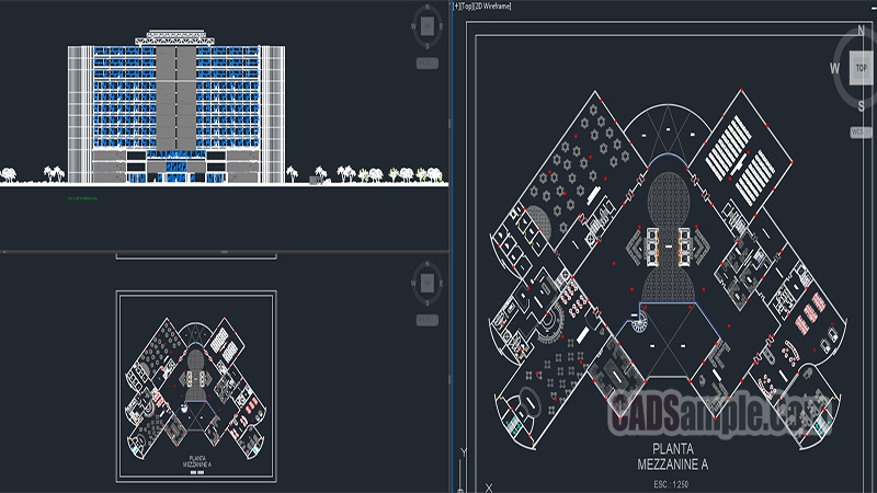 5 Stars Hotel Projects Free Dwg