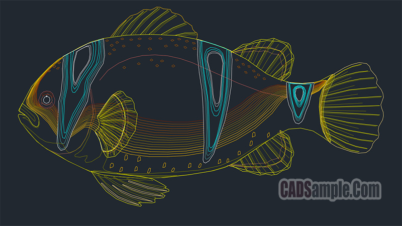 Fish Autocad Free Drawing