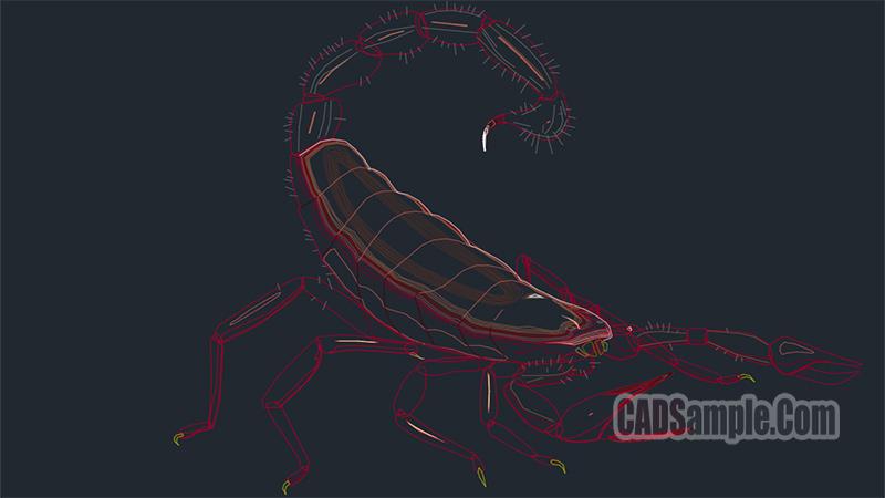 Scorpion free Dwg Drawing