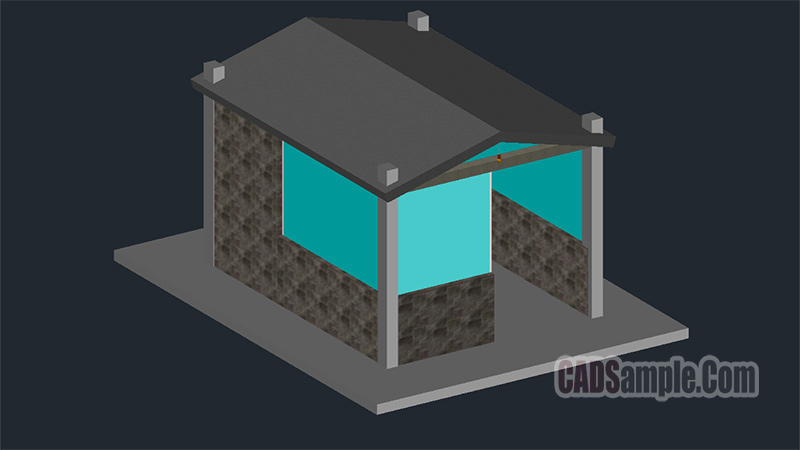 Guardhouse 3D Drawing Free Dwg