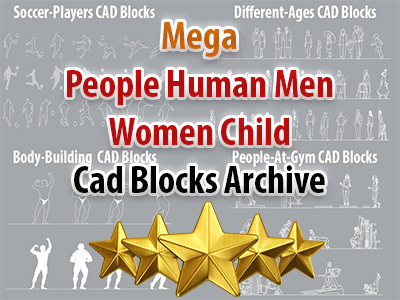 Mega People Human Men Women Child Cad Blocks Archive