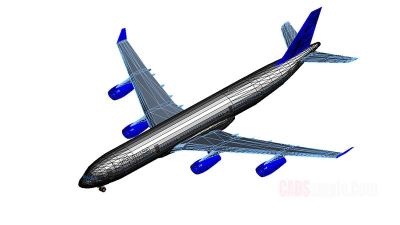 Airbus A340 3D Revit Model