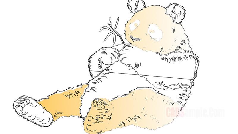 Panda Autocad Drawing
