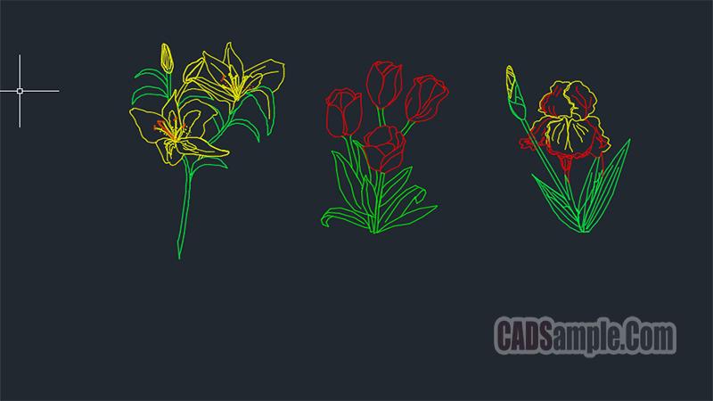 Special Flowers Cad Blocks